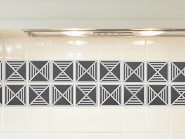 Grey modern tiles   Decor sticker