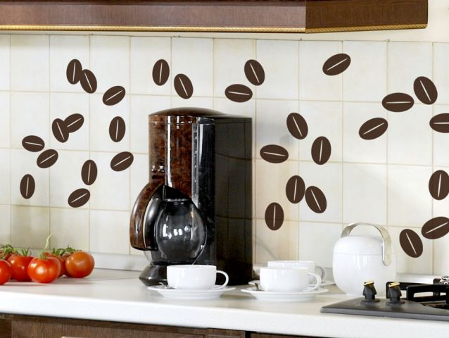 Coffee beans | Wall sticker set