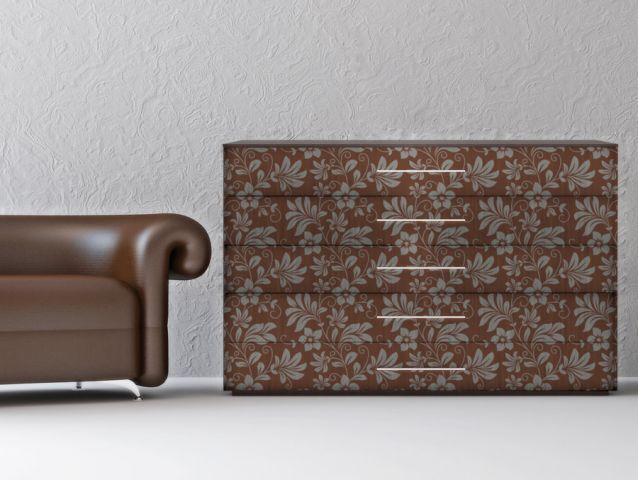 Brown floral Decor sticker