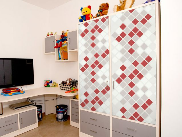 Red and Grey squares | Furniture sticker