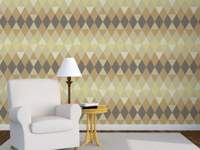 Geometric brown wallpaper