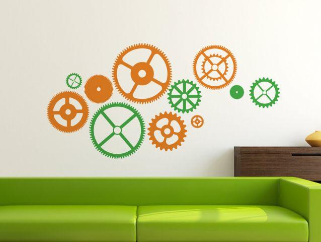 cog-wheel wall sticker