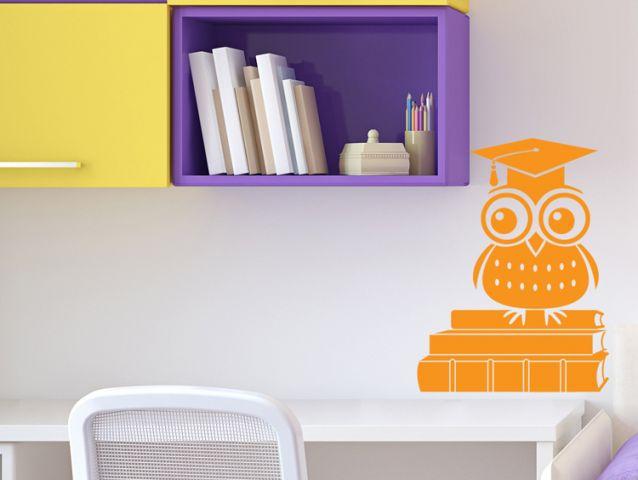Owl school wall sticker