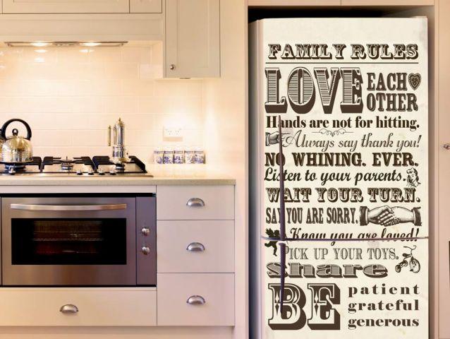 Retro fridge wallpaper sticker