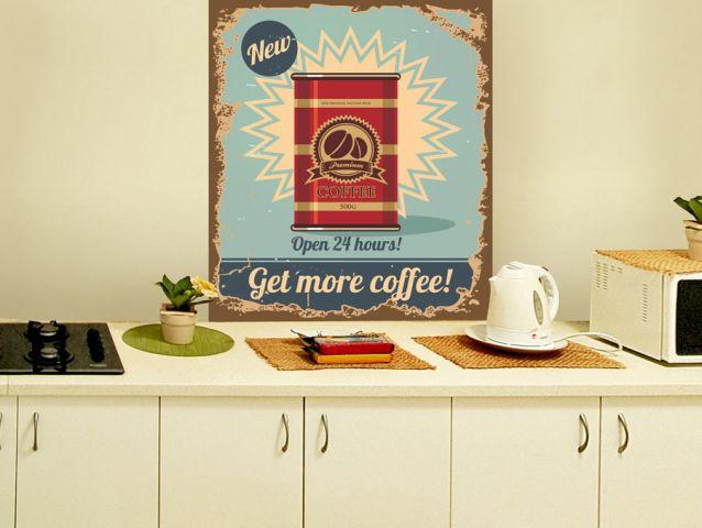 Retro coffee   Wall sticker