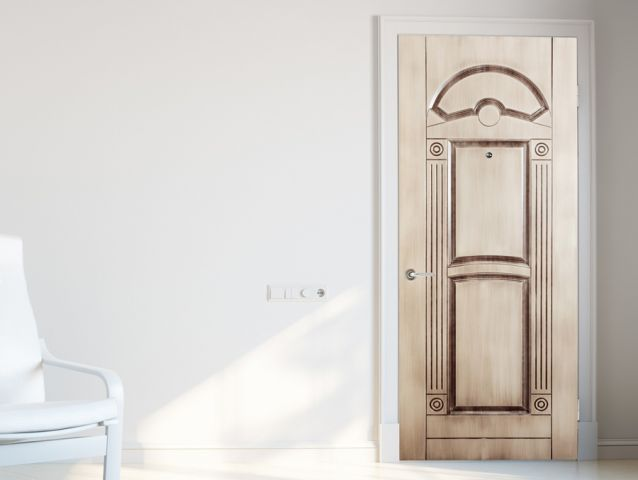 Wall sticker for door in classic design