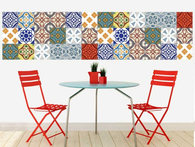 Moroccan tiles wallpaper sticker