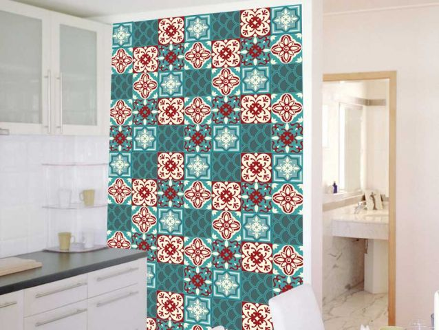 Retro style wallpaper in an innovative design