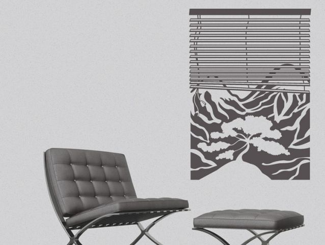 Window to the valley | Wall sticker