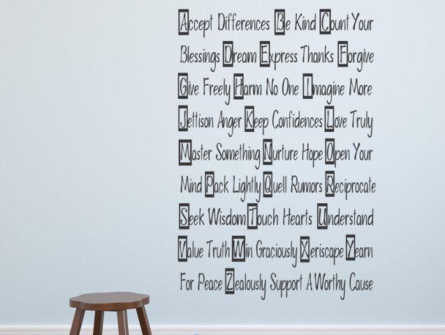 ABC sayings | Wall sticker