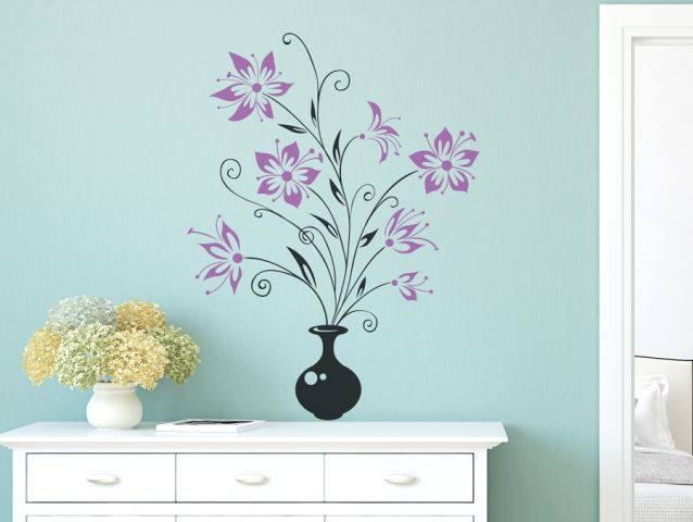 Flower vase | Wall sticker