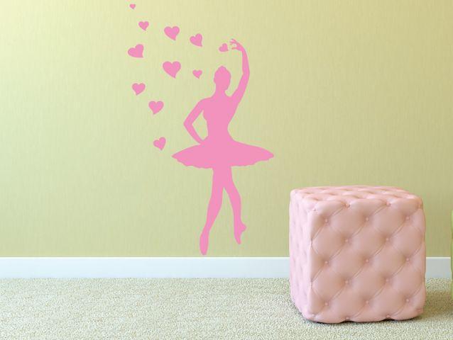 Ballerina and hearts