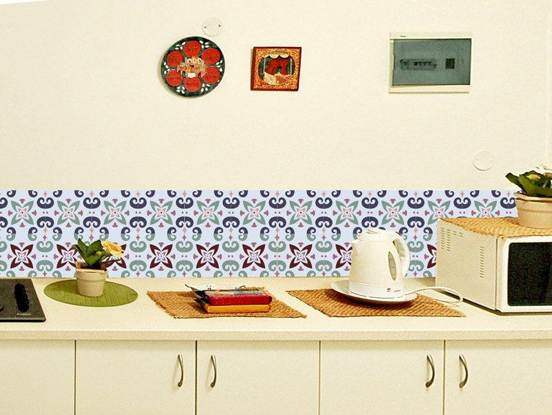 מדבקת קיר למטבח   מדבקות אריחים   טווס