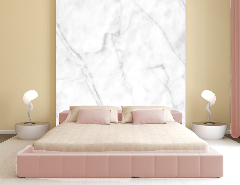 White marble | Sticker wallpaper