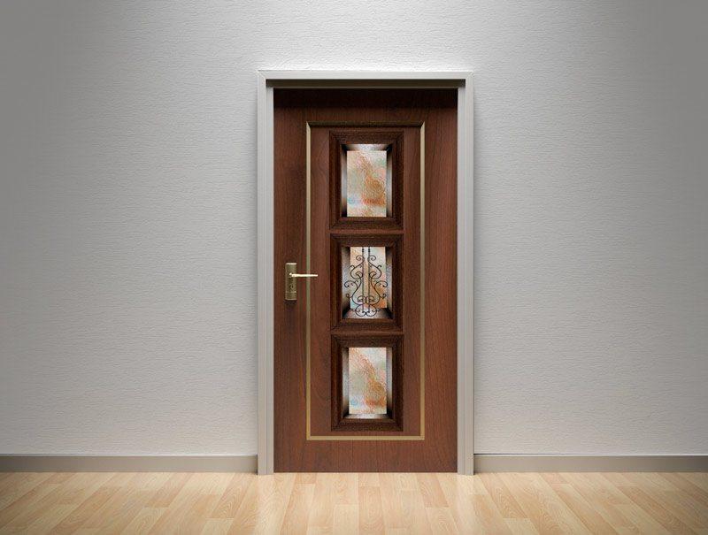 מדבקת קיר   מדבקות לדלת   מדבקת קישוט לדלת   נישת זכוכית כתום