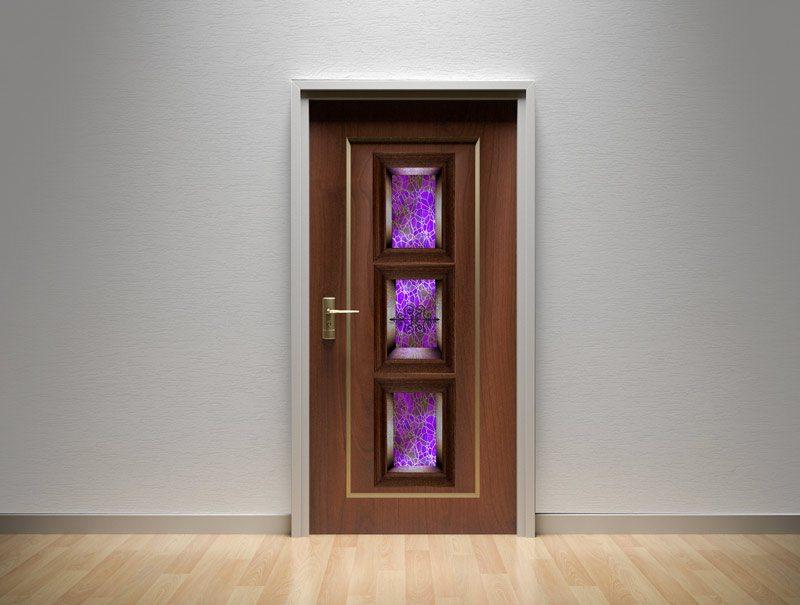 מדבקות קיר   מדבקות לדלת   מדבקת קישוט לדלת   נישת זכוכית ורוד