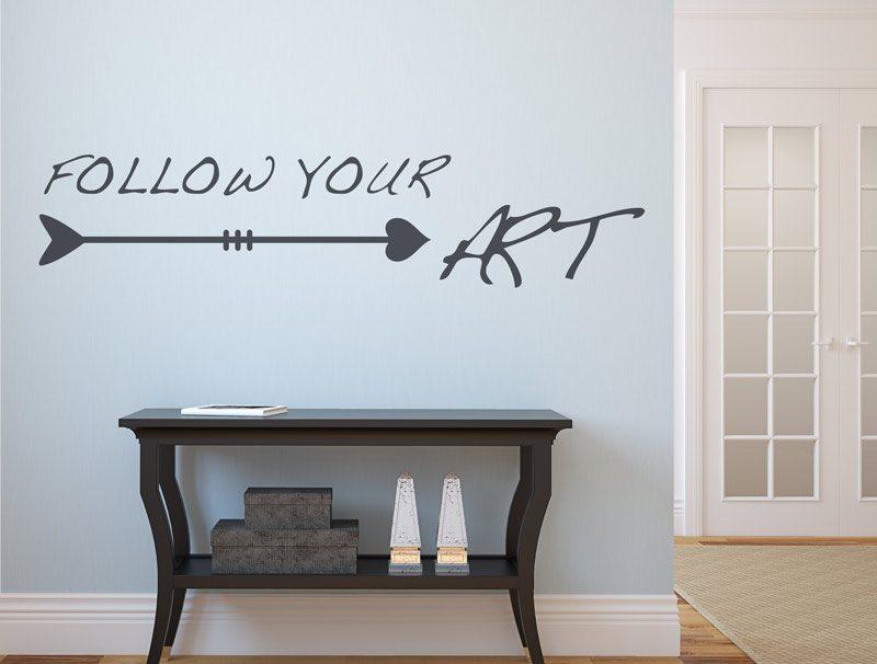 מדבקת קיר | לכו אחרי האומנות