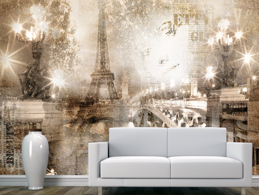 Wallpaper | Paris decorated in a vintage style
