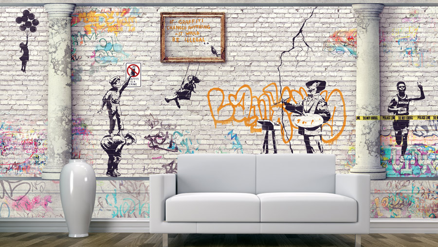 Wallpaper | A brick wall is designed as a gypsy gutter